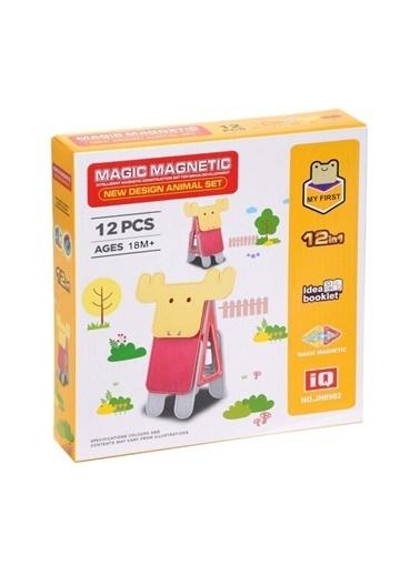 Birlik Oyuncak Birlik Oyuncak Jh8982 Manyetik Geyik 12 Parça Blok Çocuk Oyuncak Seti Renkli
